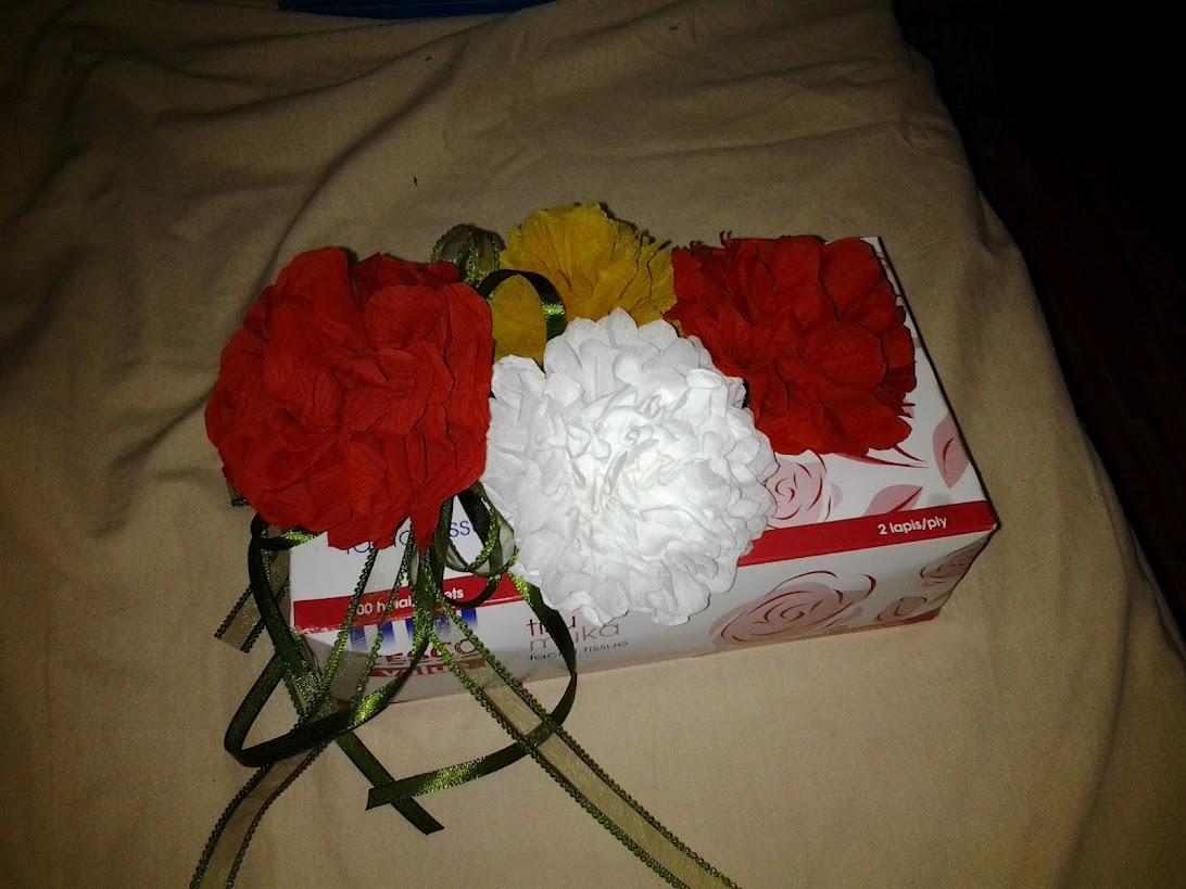 NNS Felt Creation: diy bunga tisu dan crepe