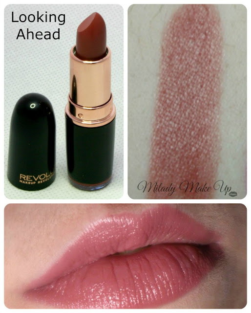 Lipstick looking ahead makeup revolution swatches