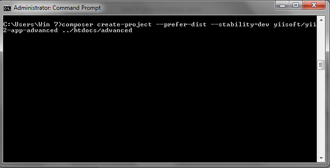 PHP Framework : Install Yii 2 di Windows Via Composer