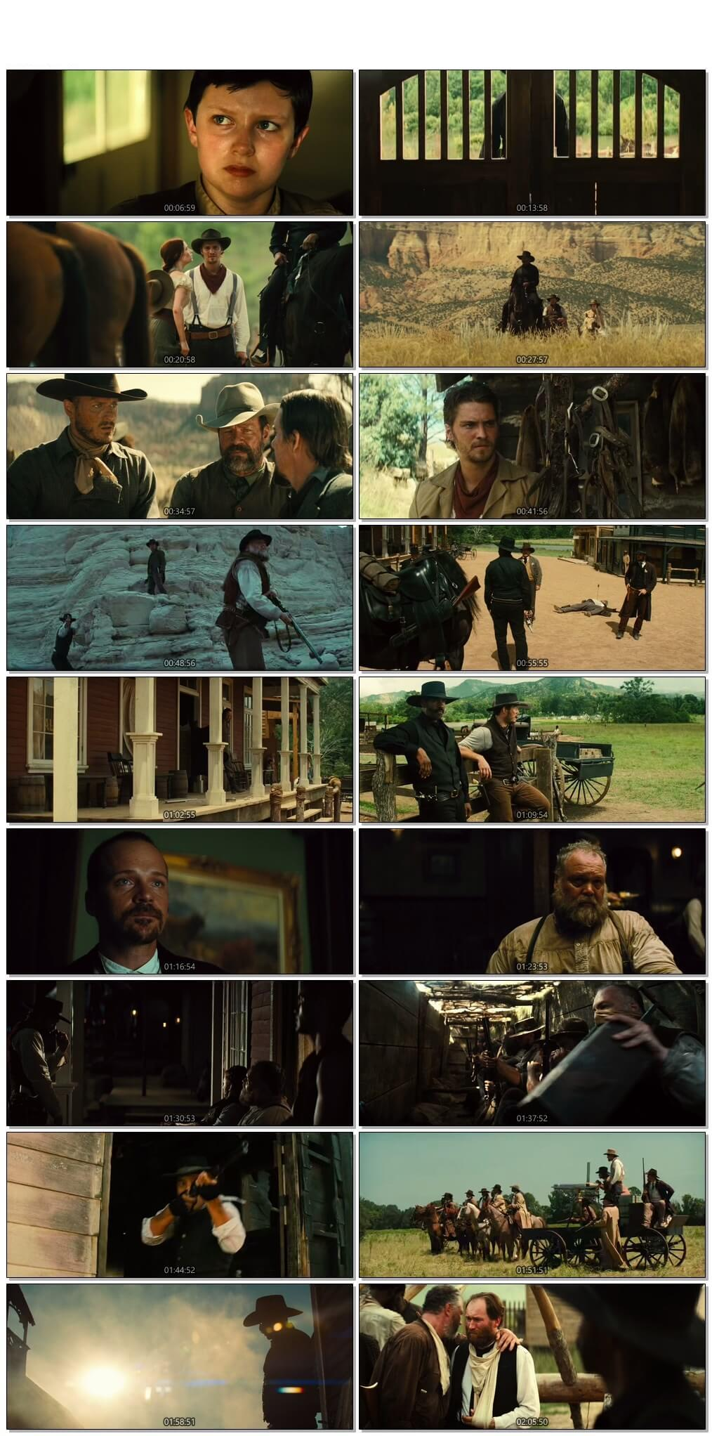 Screen Shot Of The Magnificent Seven 2016 Full Movie Download Free Watch Online 300MB