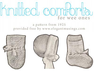 Free Pattern 1920's Knitting - Baby Knits