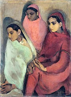Three Girls by Amrita Sher Gil