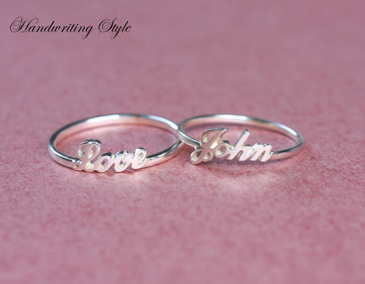 Bestyle Jewelry: Custom Name Ring
