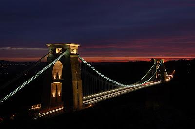 Clifton Suspension Bridge as the Sun goes Down