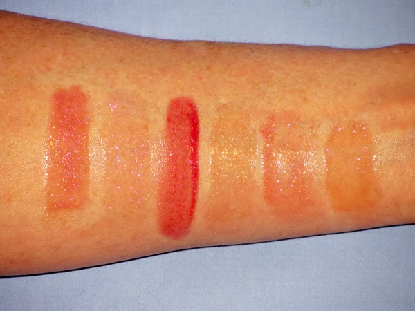 bareMinerals Show Me The Shimmer Lip Gloss Swatches