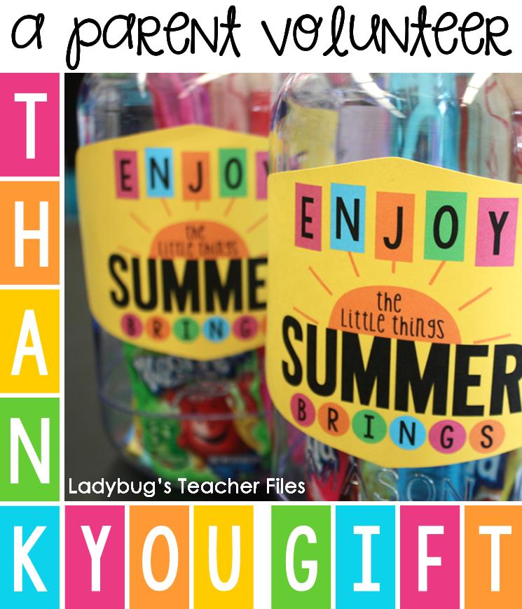 A Parent Volunteer Gift Idea - Ladybug's Teacher Files