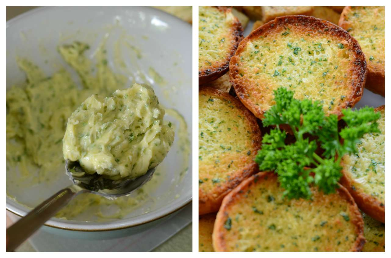 how to make a good garlic butter spread