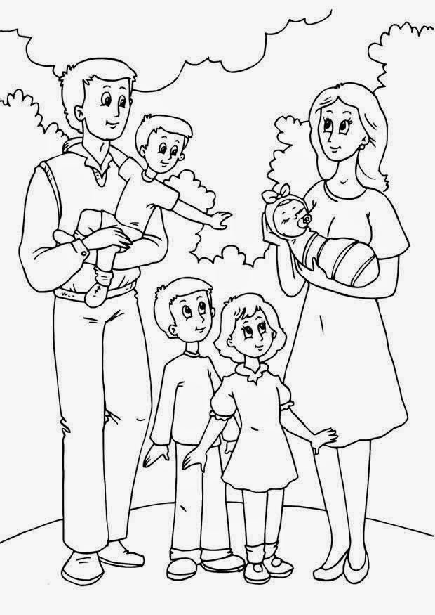 Dibujos para Colorear: La familia