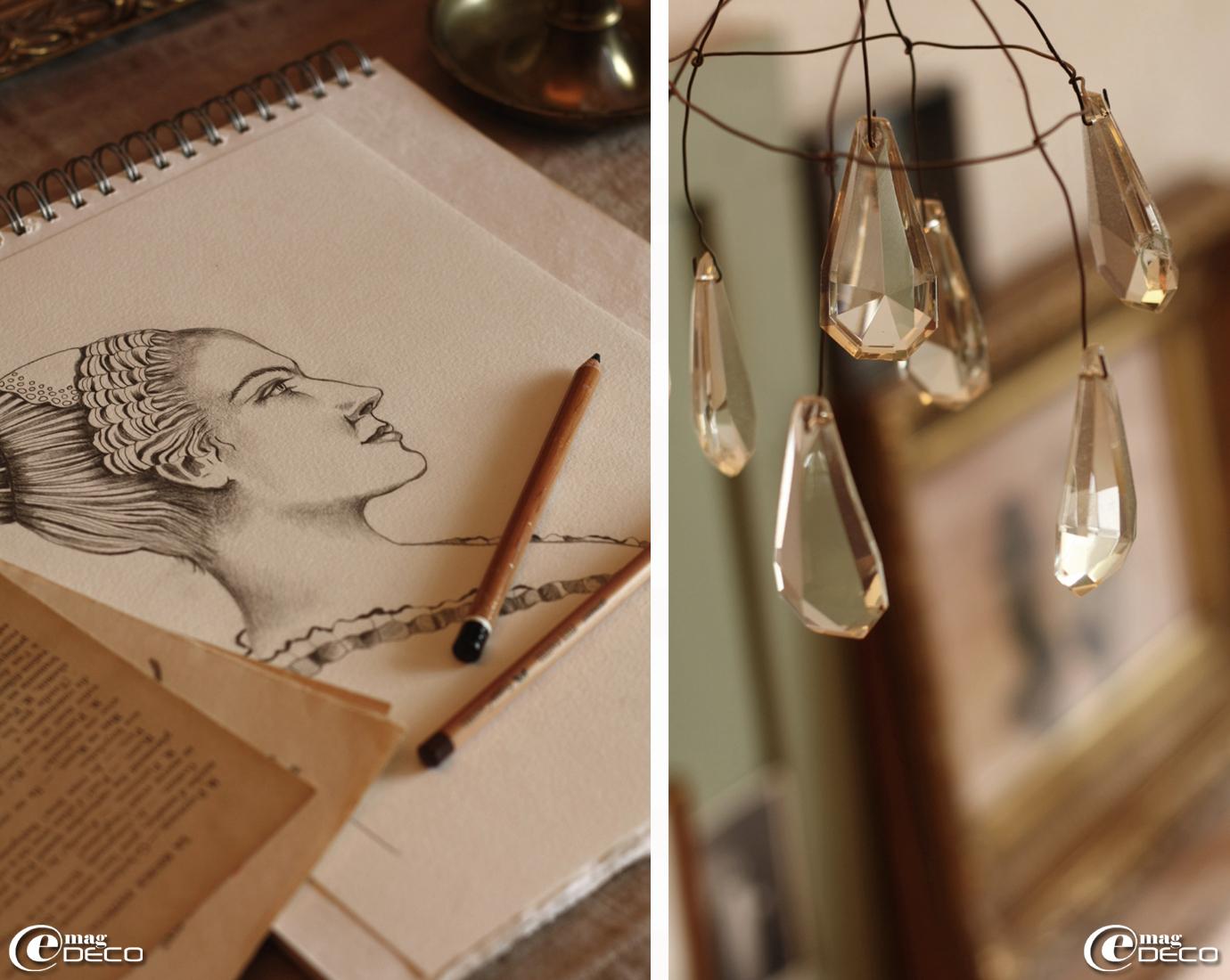 Dessin au crayon de Philippe Joubert Lussac, auteur du blog Gris-bleu