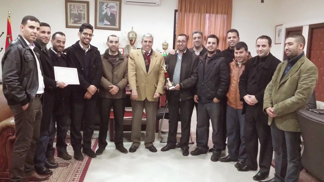 د عبد الوهاب بنعجيبة يهنئ فريق جمعية موظفي الأكاديمية الجهوية للتربية والتكوين لجهة طنجة تطوان