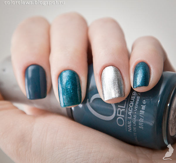 Orly Saphire Silk + Orly Dazzle + Amy's #31