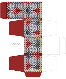 Chainmail inspired printable box- red