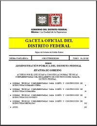 NORMAS TÉCNICAS COMPLEMENTARIAS AL REGLAMENTO DE CONSTRUCCIÓN DEL DF
