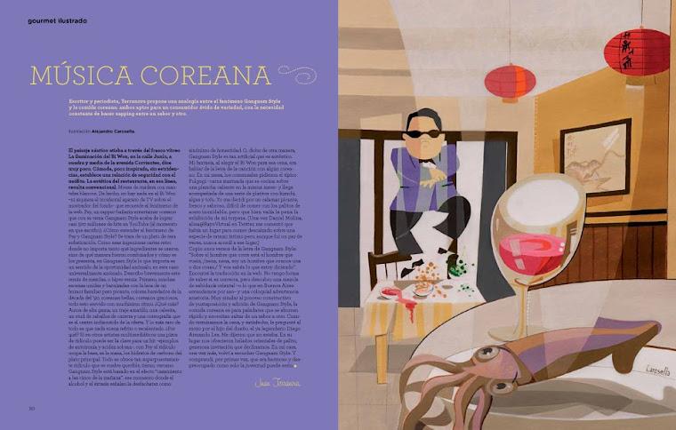 Ilustración para la revista El Gourmet