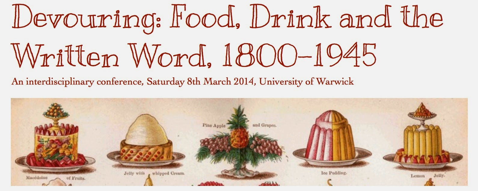 Devouring: Food, Drink and the Written Word, 1800-1945