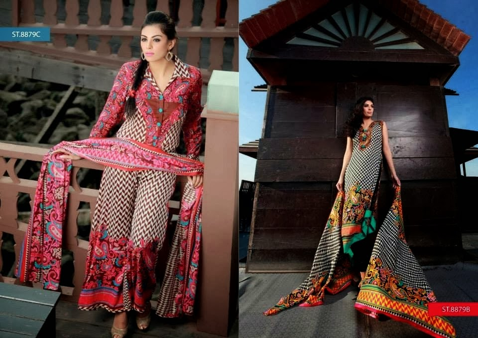 Long Luxurious Frocks Printed Lawn Collection