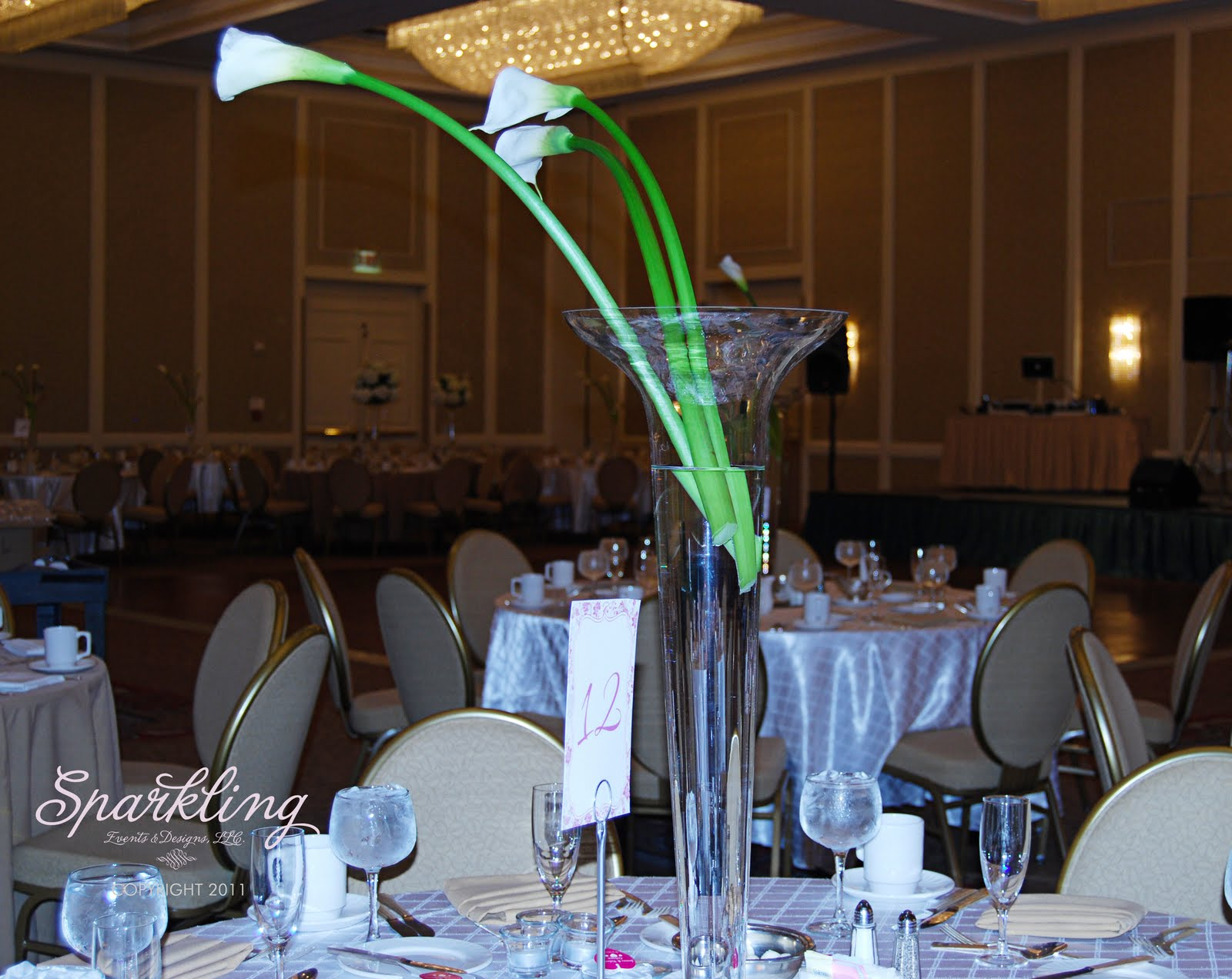 Calla lily and hydrangea wedding sparkling events designs