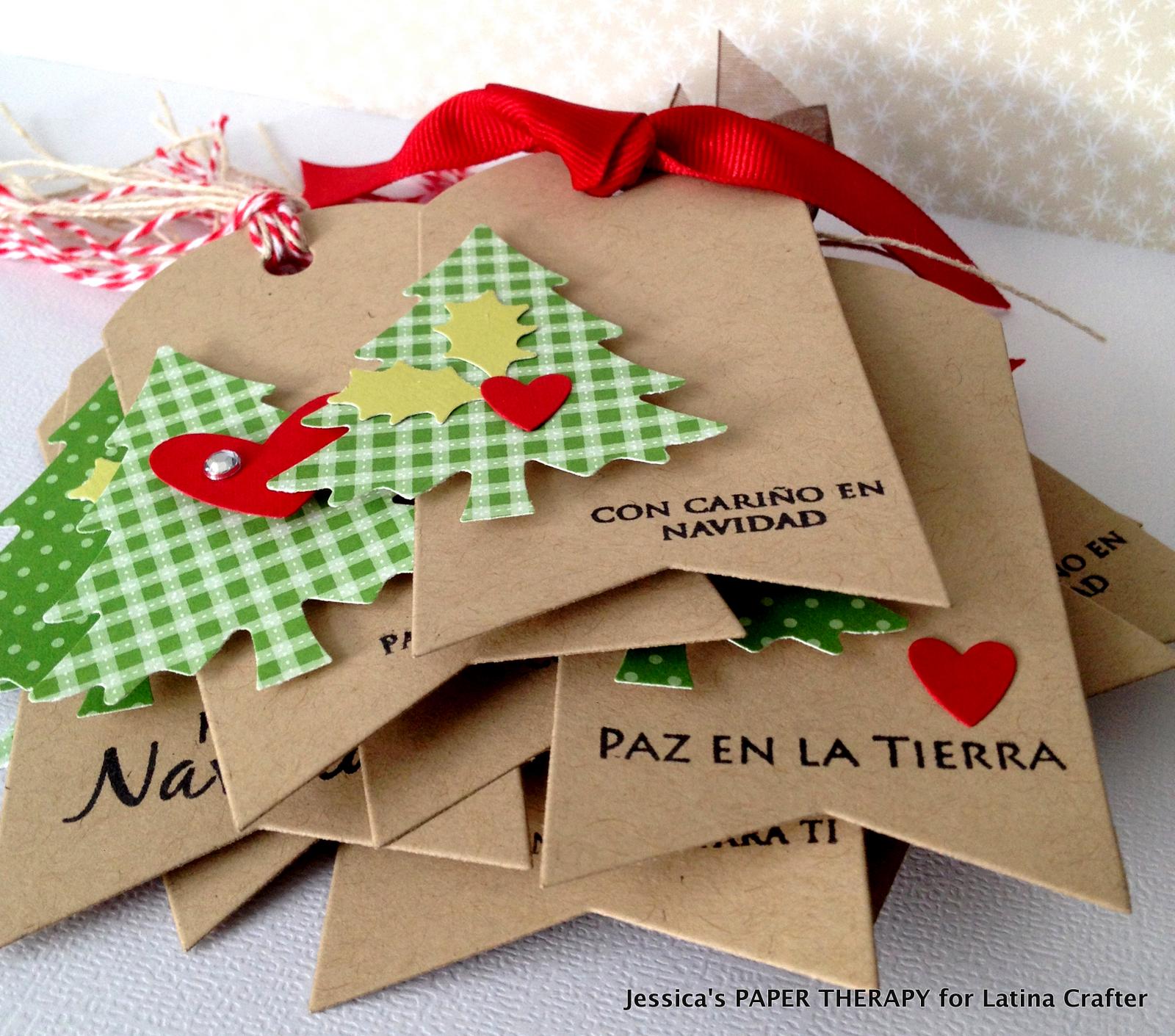 Latina crafter sellos en espa ol etiquetas para navidad for Detalles para navidad