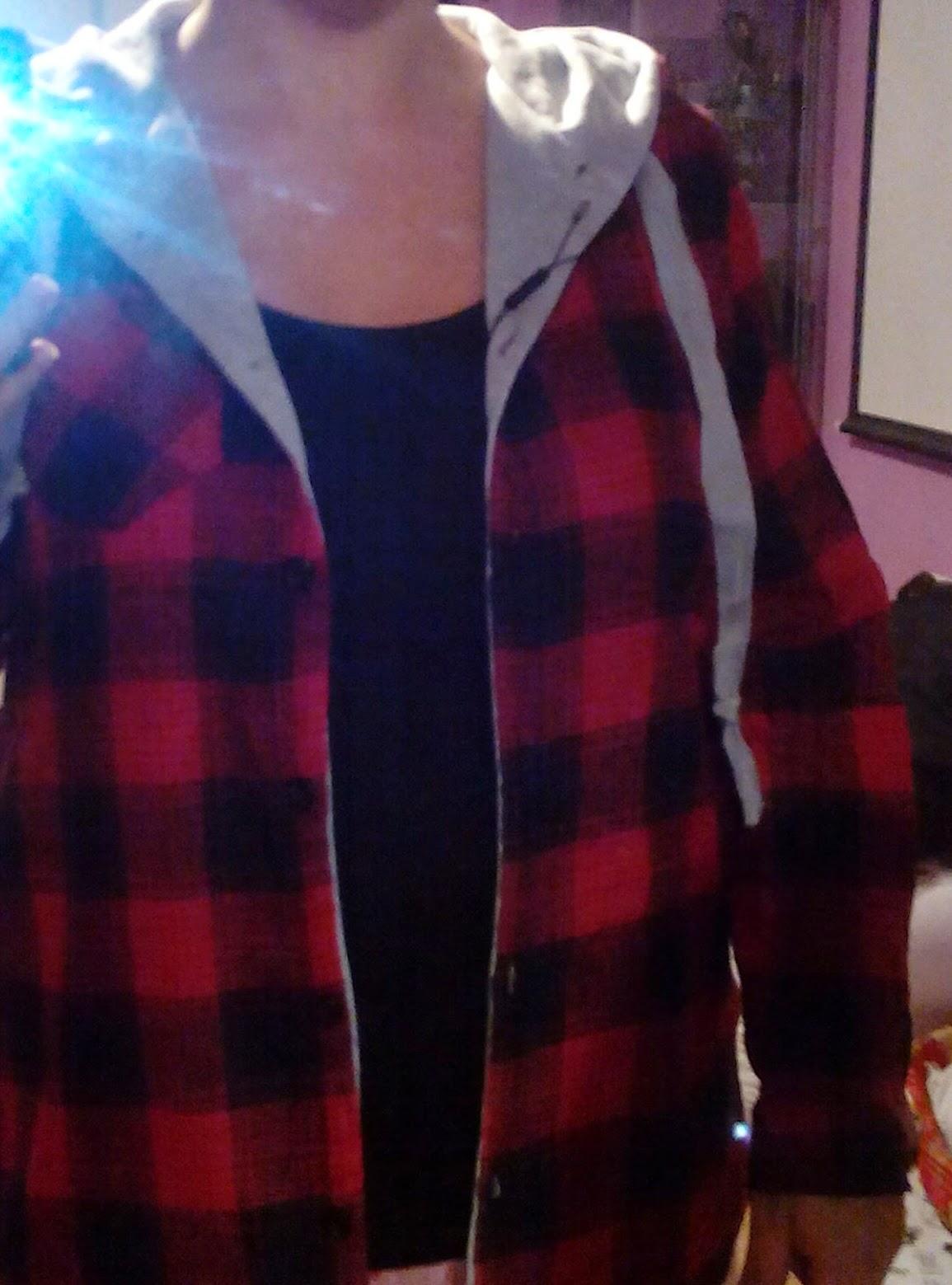 camisa de cuadros rojos de choies plaid