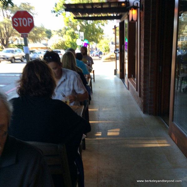 outdoor dining at Picco in Larkspur, California