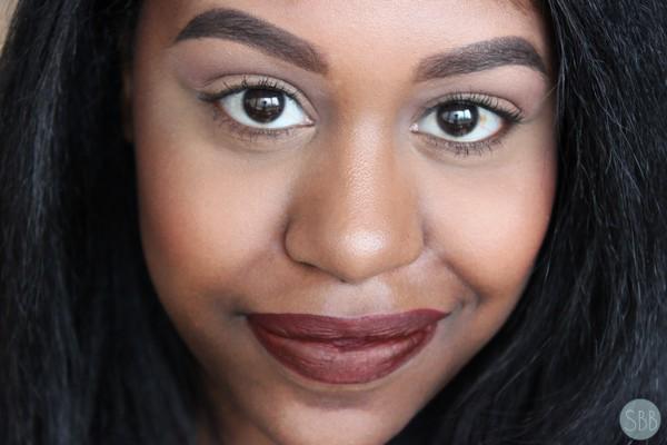 picture of makeup using kat von d lipstick