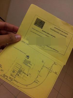 jemputan kad raya dari cikgu sekolah. Yang atas tu jemputan ke rumah
