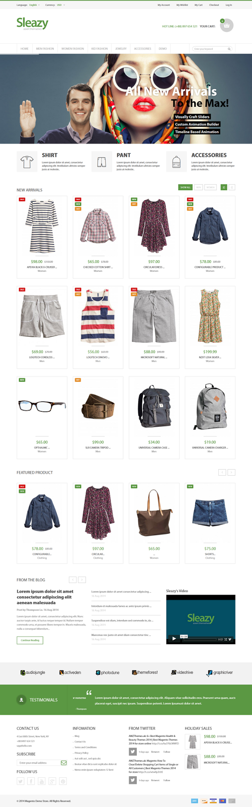 New Responsive Magento Fashion Theme