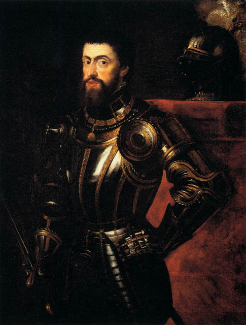 Charles V in Armour 1603, Peter Paul Rubens, Baroque painter