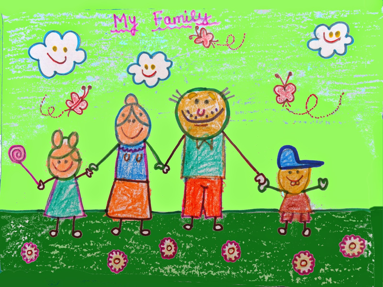 my family drawing