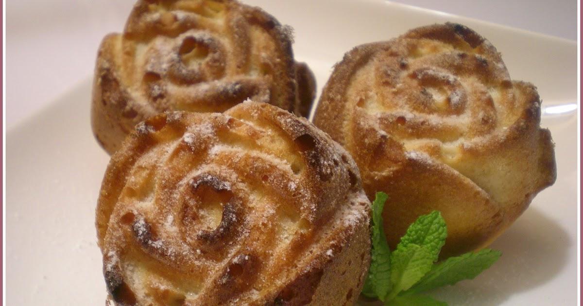 Las recetas de f fo magdalenas o rosas - Madalenas o magdalenas ...