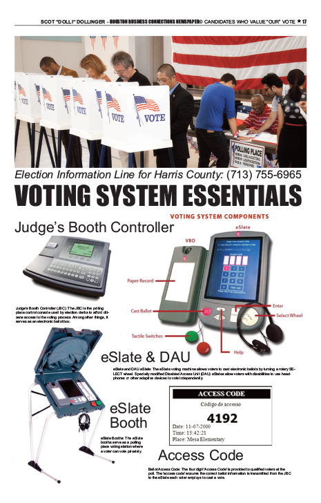 PAGE 17 - HOUSTON BUSINESS CONNECTIONS NEWSPAPER RUNOFF ELECTION BRANDING SUPPLEMENT