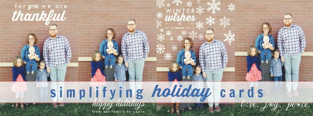 simplifying holiday cards