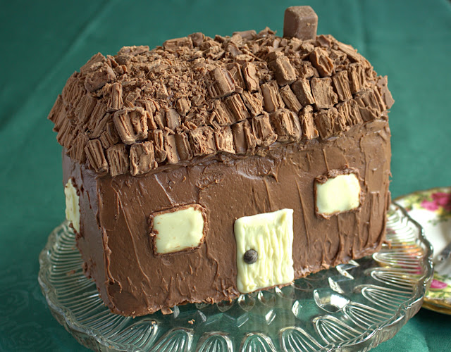 Chocolate & Hazelnut Cottage Cake also featuring Nutella, chocolate fudge icing and Twirl!