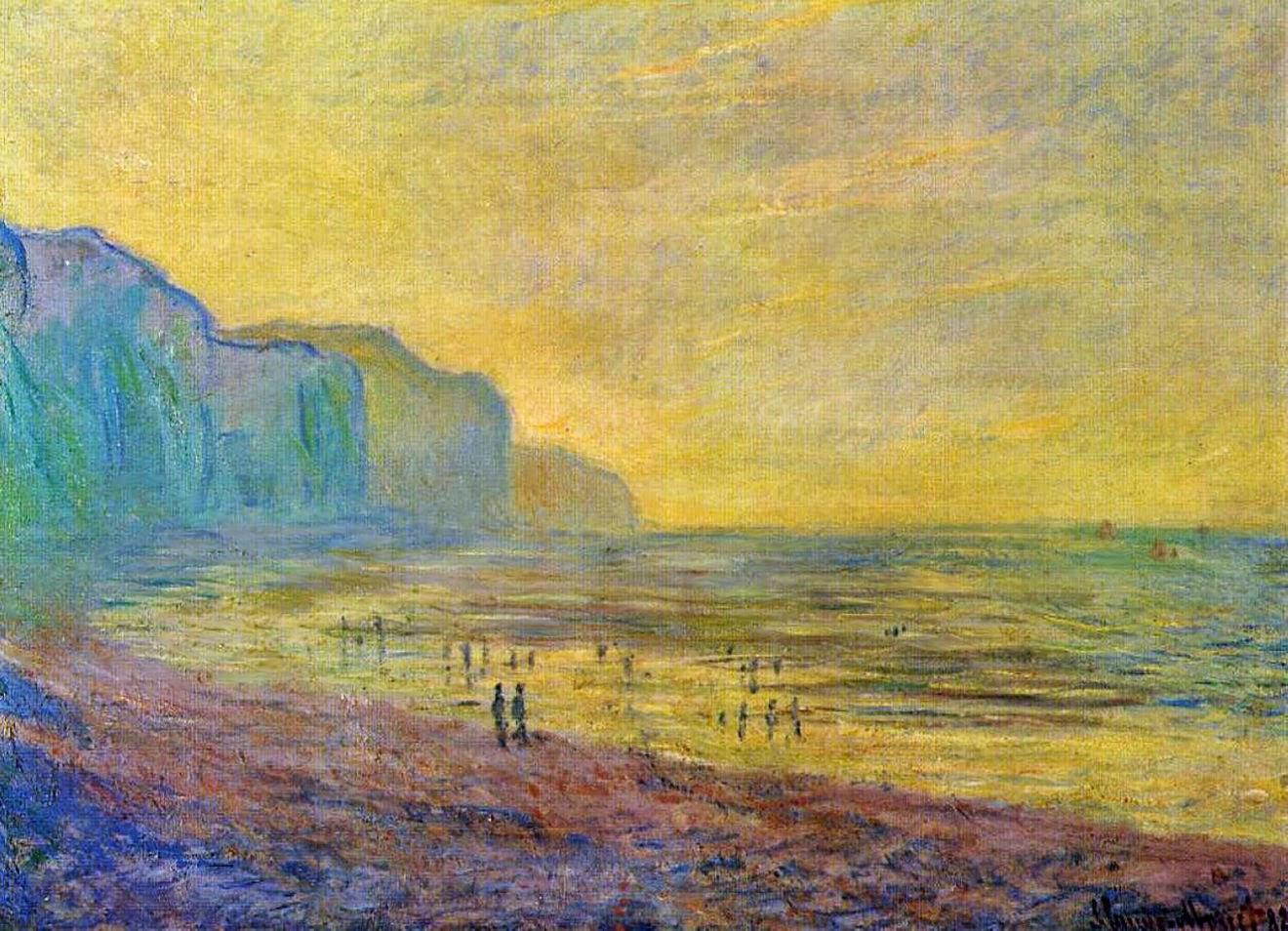 Marée basse à Pourville, temps brumeux (1882)