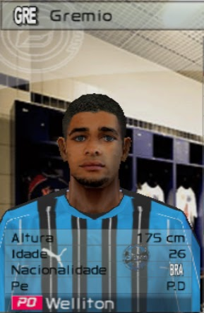 Download Twister Patchs : (PES 6/WE9) Face Welinton (Gremio) By
