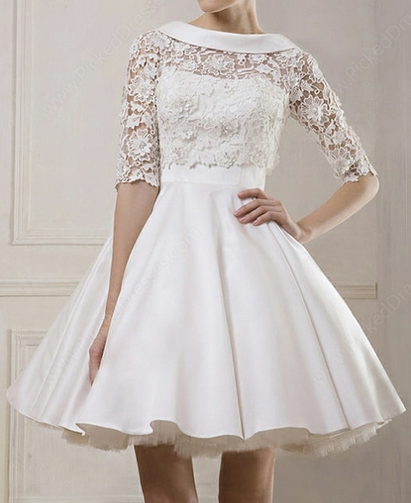 http://www.pickeddresses.com/satin-ball-gown-bateau-short-mini-lace-wedding-dresses-p842.html