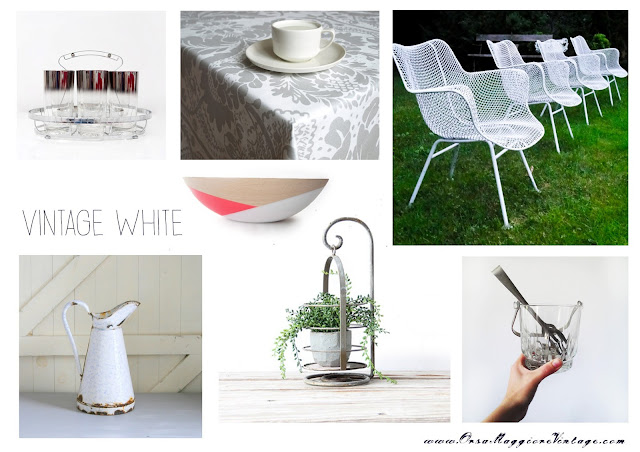 white vintage garden/patio