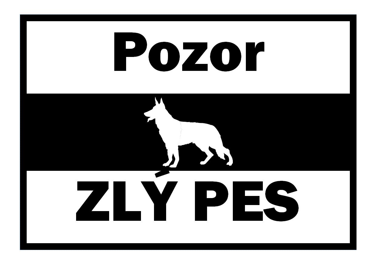 Cedule pozor pes ke stažení a vytisknutí