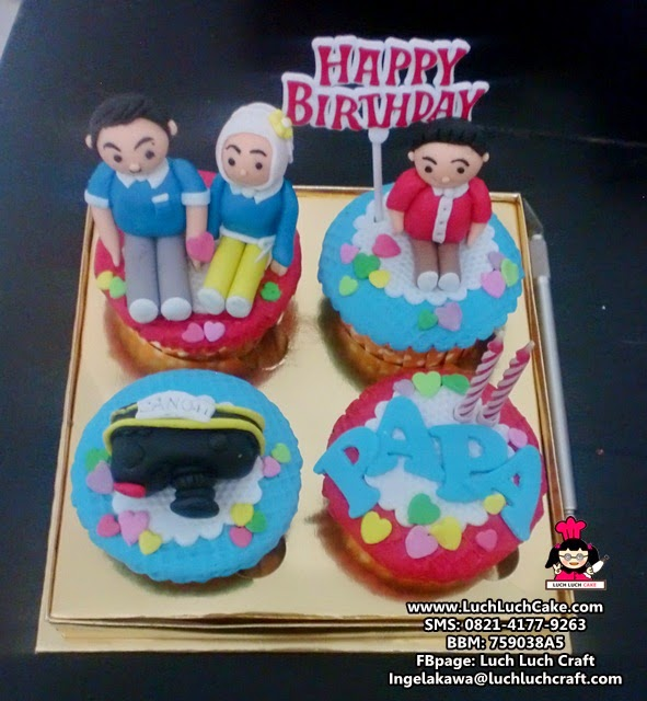 Cupcake Kamera Untuk Ayah (Repeat Order)