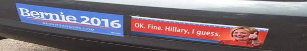 Bernie . . . err . . . Hillary