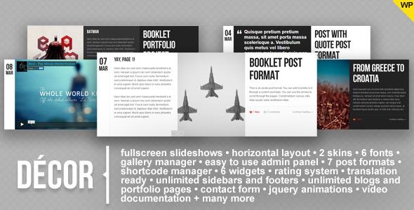 Decor WordPress Theme Free Download by ThemeForest.