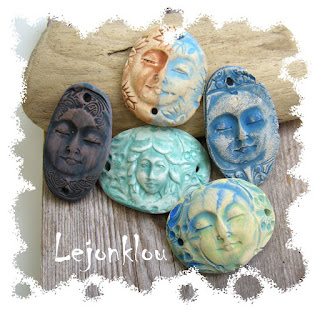 ceramic face pendants by Angel Whisperer