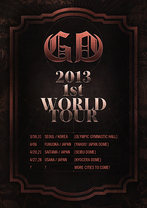 G-Dragon Solo World Tour 2013