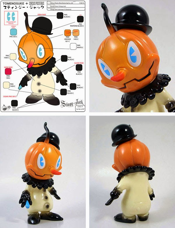 """Pierrot"" Stingy Jack Vinyl Figure by Brandt Peters"