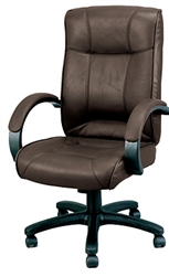 Brown Leather Executive Computer Chair