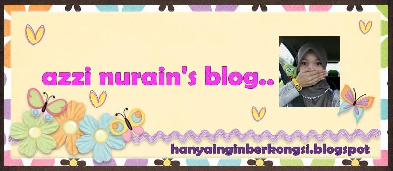 """""""azzi nurain's blog"""""""