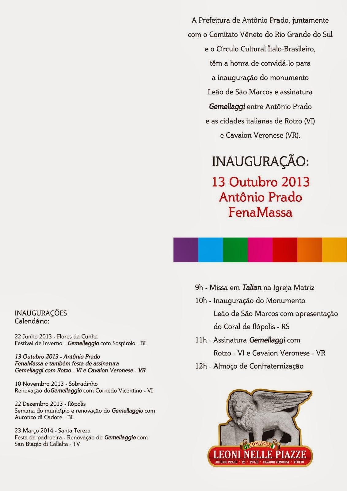Convite Antonio Prado Verso