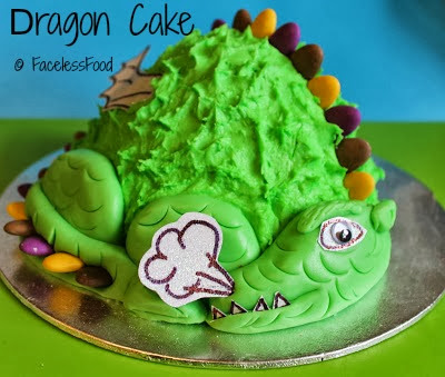 Mint chocolate dragon cake
