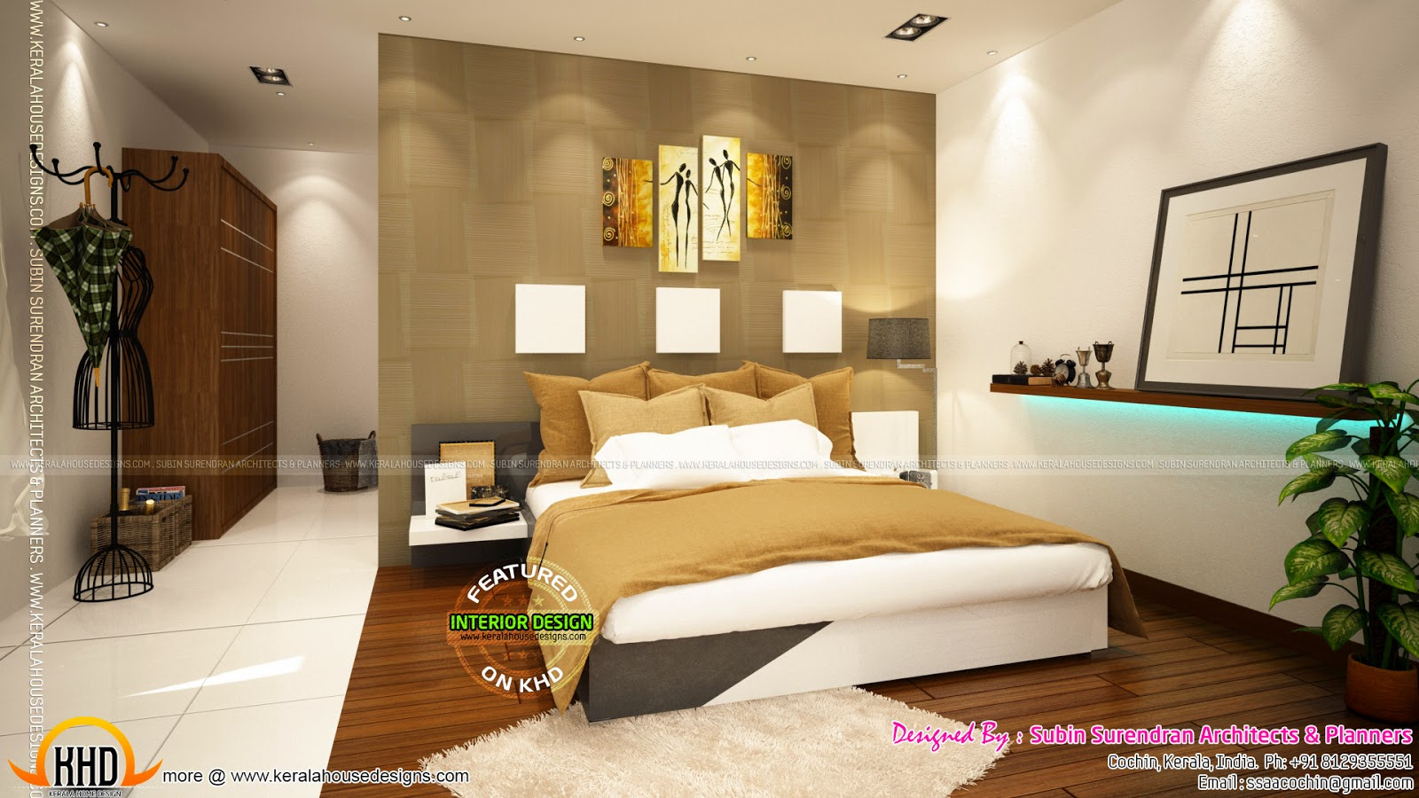 Kerala home design and floor plans beautiful home for Beautiful bedroom designs hd