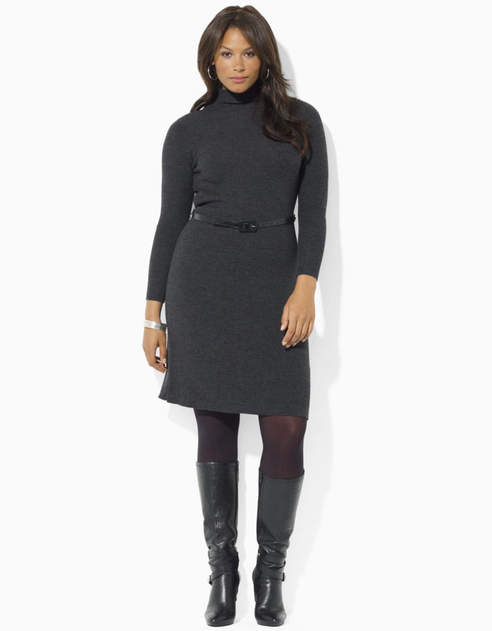 GET THE LOOK: TURTLENECK DRESSES FOR PLUS SIZES | Stylish Curves
